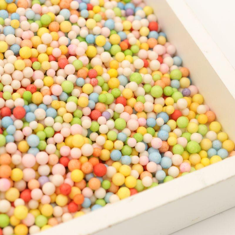 Assorted Colors Polystyrene Styrofoam Filler Foam Mini Beads Balls Crafts gift