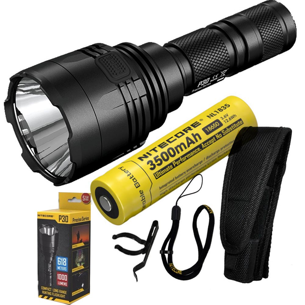 NITECORE P30 1000Lumen Long-range Tactical Flashlight Outdoor Hunting Waterproof Portable Torch with 3500mAh 18650 Battery nitecore p30 tactical flashlight 1000lm 5 working modes outdoor hunting waterproof portable torch led outdoor camping rescue