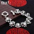 Punk del cranio della mano catena Beier uomo braccialetto di collegamento della catena SCTYL0124