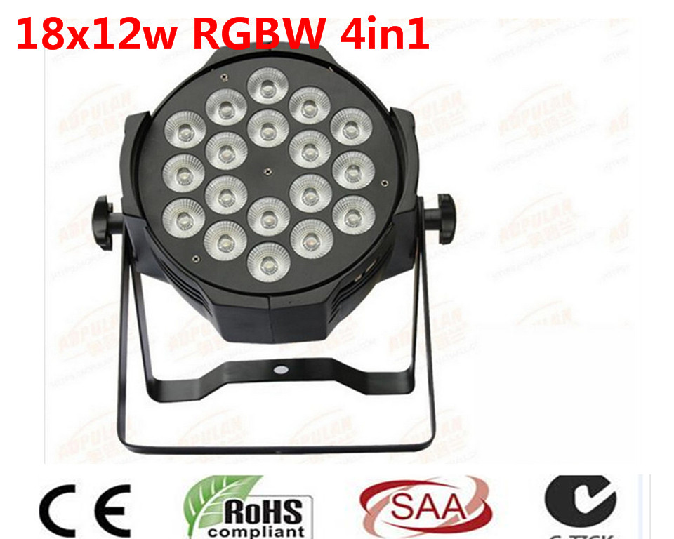 12pcs/lot LED par 18x12W RGBW 4in1 Quad LED Par Can Par64 led spotlight dj projector wash lighting stage light light ...