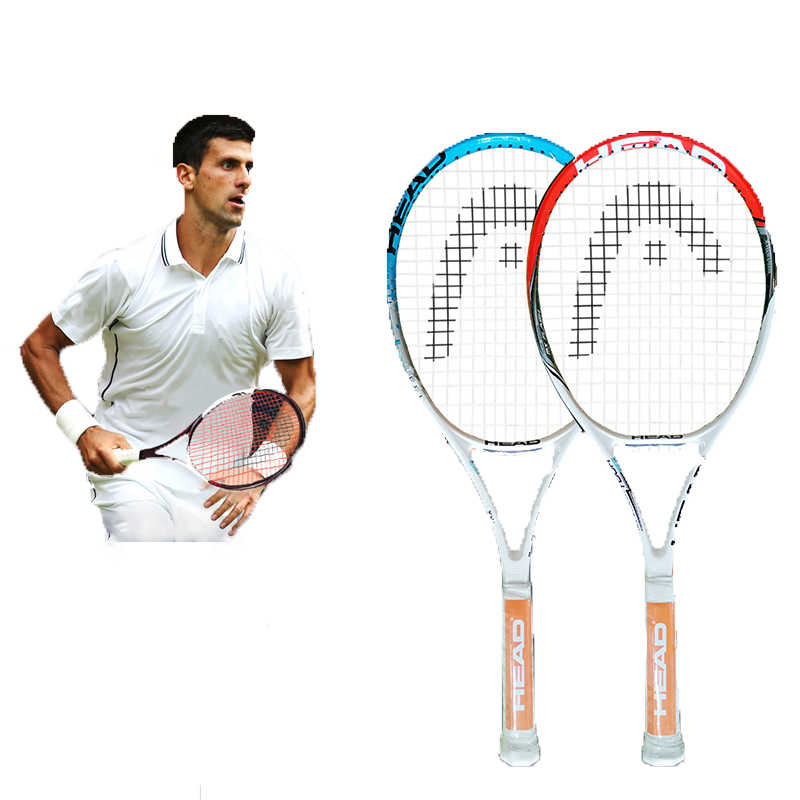 HEAD Tennis Racket Os Racket Surface 102 Square Inches Single Double For Beginners Training Raquete Carbon Fiber Tennis Racquet