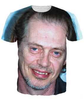 Camiseta de Steve Buscemi loveable Buggy Eyed Face 3d estampado Tees verano estilo moda ropa Casual camiseta para Unisex mujeres hombres