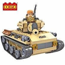 Cogo Military Series Tank Building Kit Blocks 192pcs Bricks Building Blocks Sets Model Kids Educational Toys brinquedos Legoe