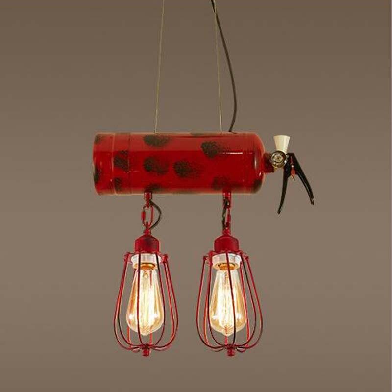 fire extinguisher pendant lights retro light fixtures nostalgic restaurant bar coffee personalized home pendant lamps ZA GY317