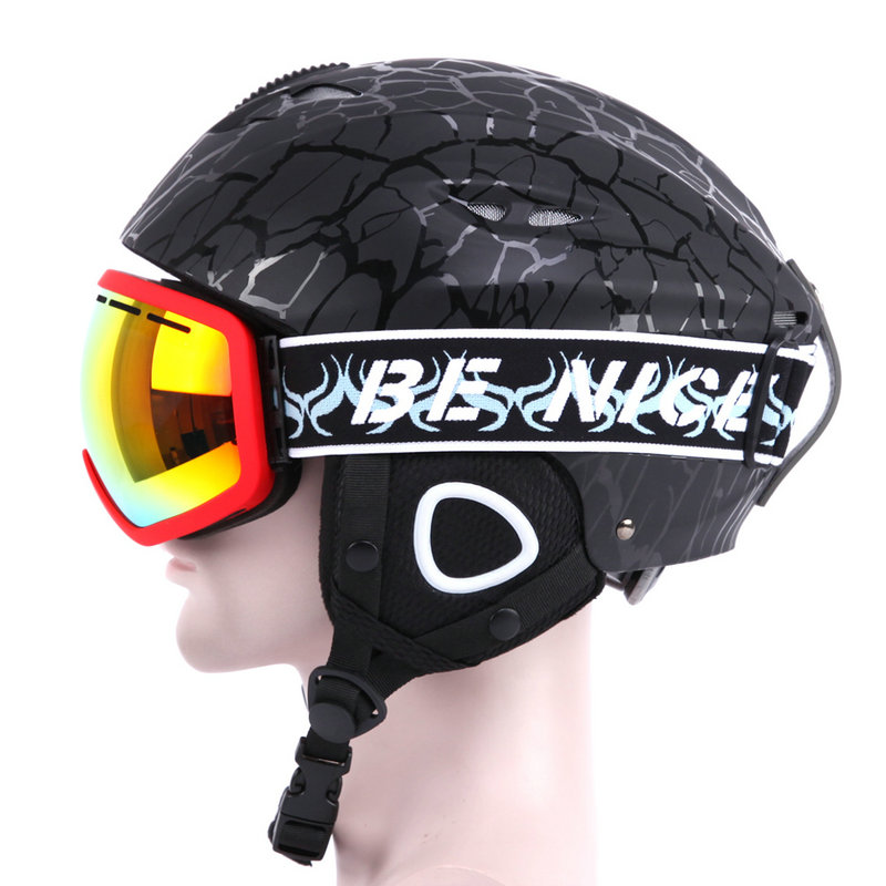 Top Quality freeze proofing Skiing Helmet ABS Ski Helmet Extreme Sports Snowboard/Skateboard ski Helmet for men and women free shipping new brand ski helmet with abs shell snowboard protection snowboardig skiing helmet with mirror for men women