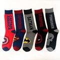 Unión Avenger Capitán América Superman Deadpool Punisher Batmen Marea Calle Monopatín Calcetines de Algodón Jacquard Calcetines de Los Hombres