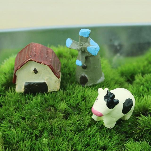 Accueil Artisanat Décoration Mignon Belle Mini Lait De Vache Paysage ...