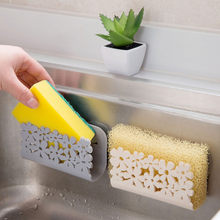 2019 Kitchen Bathroom Drying Rack Toilet Sink Suction Sponges Holder Rack Suction Cup Dish Cloths Holder Scrubbers Soap Storage(China)