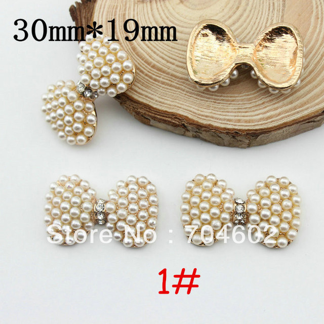 Bow – Flowers – Pearl Buttons Rhinestone