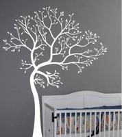 BIG TREE BROWN GREEN WALL DECAL Decor Art Sticker Mural wall stickers home decor removable vinyl waterproof poster