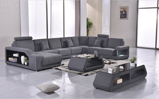 US $1368.0 |sofas for living room corner sofa u shap sectional with fabric  sofa set-in Living Room Sofas from Furniture on Aliexpress.com | Alibaba ...