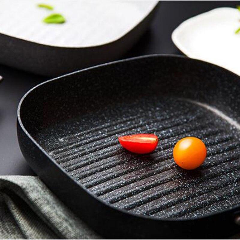 אין נפט עשן מחבת ארוחת בוקר מחבת סטייק ביצי טיגון להשתמש רק מחבתות טפלון לכירי גז עוזר בישול מטבח