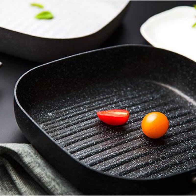 No Oil-fumo Padella Bistecca Padella Colazione Padella Uova Utilizzare Solo per Fornello A Gas Padelle Antiaderenti cucina Helper