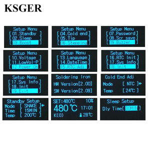 Image 4 - KSGER לבן עבה פנל STM32 OLED T12 הלחמה תחנת טמפרטורה דיגיטלית בקר עבור Hakko T12 חשמלי הלחמה ברזל