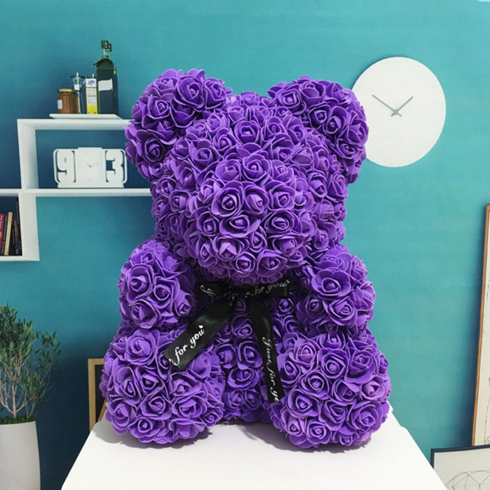 Cleansers Mascot Rose Flower Soap Bear Plush Toy Scented Bath Soap Lovers Valentines Day Birthday Christmas Wedding Present