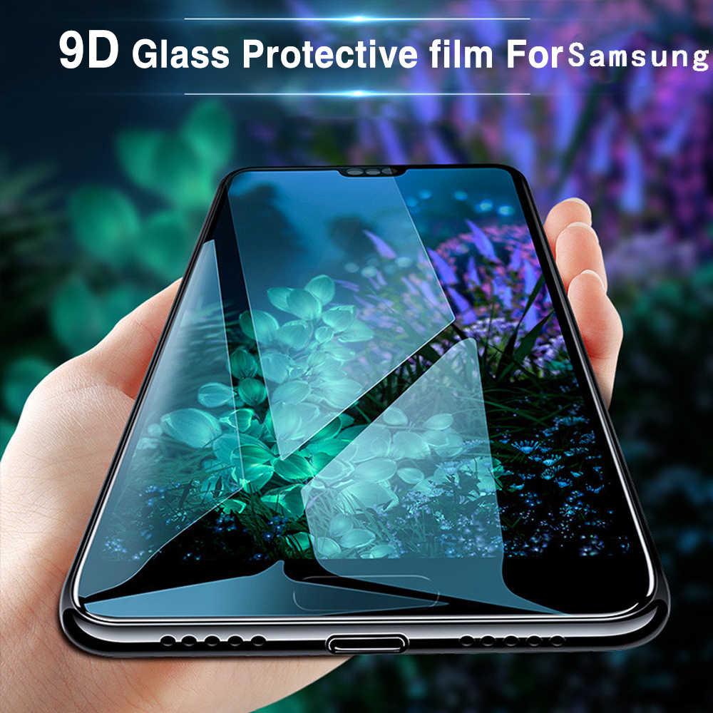 على لسامسونج galaxy s10 واقي للشاشة زجاج واقي s10 زائد tremp المقسى لسامسونج ملاحظة 9 A6 A8 J4 J6 2018 S8