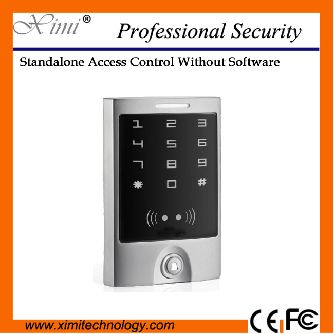 Good quality proximity smart card reader 125KHZ RFID card reader single door weigand26 touch keypad access controller good quality metal case face waterproof rfid card access controller with keypad 2000 users door access control reader