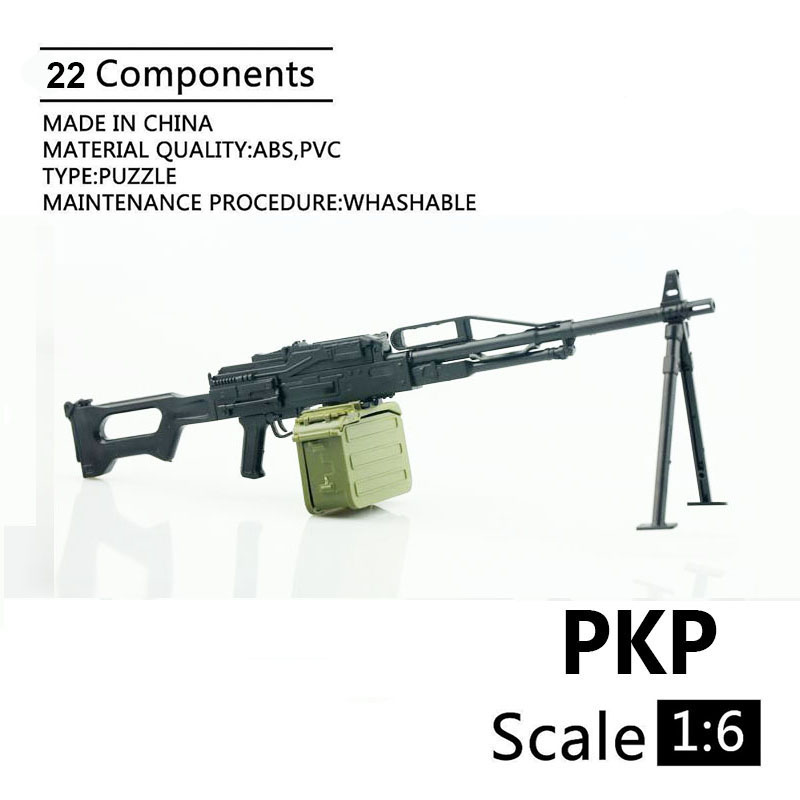 1:6 PKP Machine Gun 4D Plastic Assemble Gun Model For 12