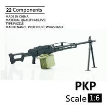 """1:6 PKP Maschine Gun 4D Kunststoff Montieren Pistole Modell Für 12 """"Soldat Waffe Action Figur Spielzeug"""