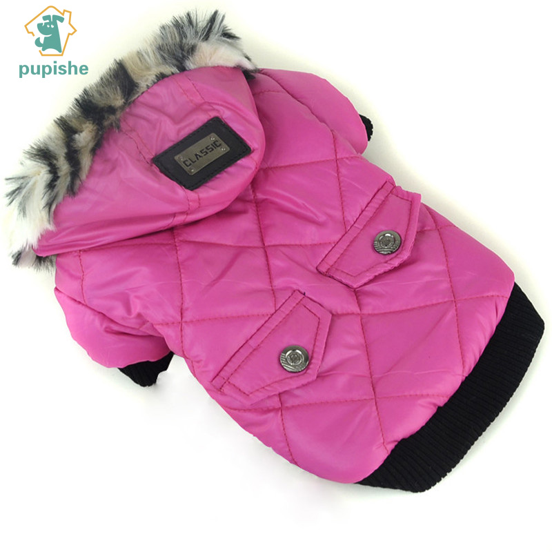 PUPISHE Best Sale Winter Pet Dog Clothes Warm Down Jacket Waterproof Coat Hoodies for Chihuahua Small Medium Dogs Puppy