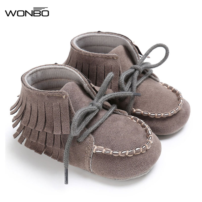 Baby Moccasin Baby First Walkers Soft Bottom Non-slip Fashion Tassels Newborn Babies Shoes 4-colors PU Leather Prewalkers Boot