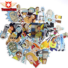 35PCS Western Animation Drama Rick and Morty Funny Sticker Decal For Car Laptop Bicycle Motorcycle Notebook