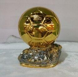 أعلى جودة 19 سنتيمتر الكرة الذهبية الكأس للبيع الراتنج جوائز أفضل لاعب الكرة الذهبية كأس لبطولات كرة القدم سيد كأس كرة قدم دور بالون