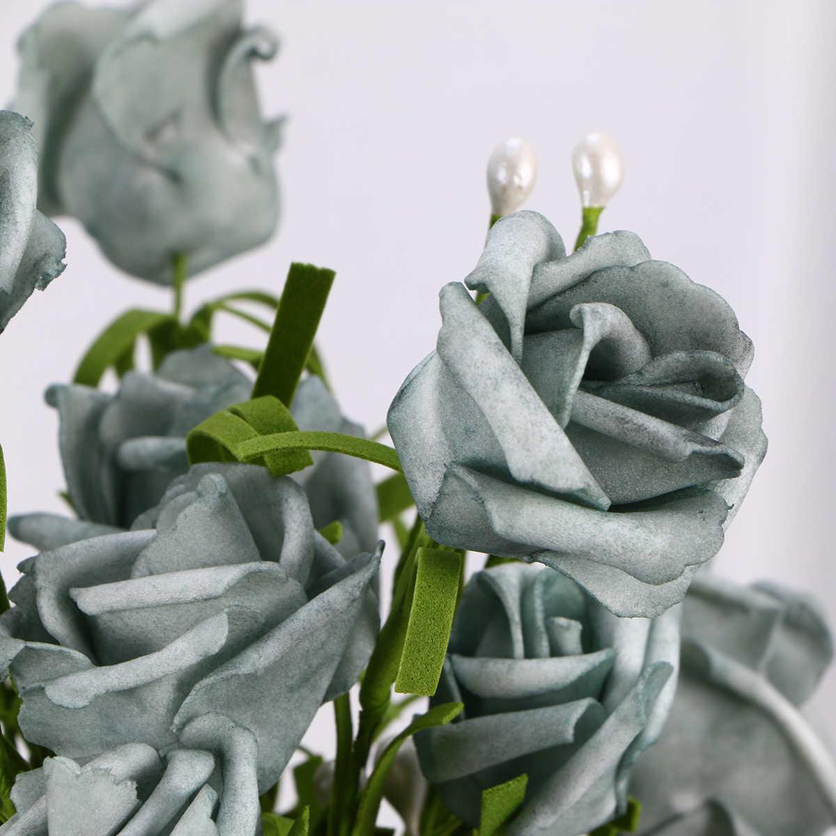 2 Pcs 6 Kepala Buatan Bunga Mawar Palsu Simulasi Bunga Untuk Rumah Hotel Dekorasi Abu Abu A30 Buatan Bunga Kering Aliexpress
