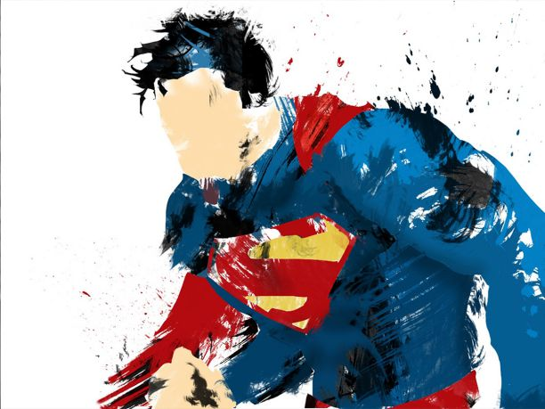 1 Panel Superman Classic Painting Culture And Art Modern Mural Decoration House Decoration Framed XJDP 76