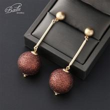 Badu Shiny Ball Pendant Dangle Earrings for Women Glitter Sequins Vintage Jewelry Long Drop Earring Wholesale Gift