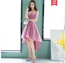 Vestido de noiva evening dresses 2018 sweet girl Prom gown Dress tulle decoration Appliques formal dress for graduations party