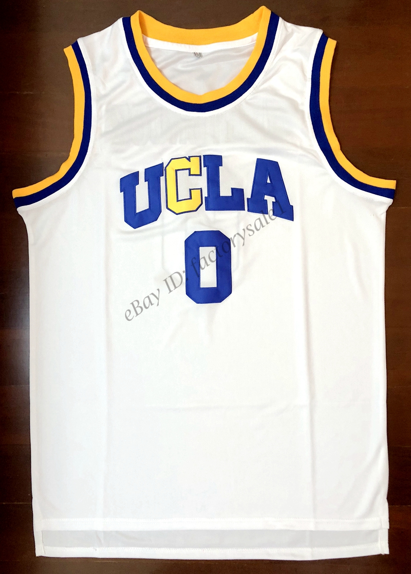 54df7dd9a low cost ej russell westbrook 0 ucla bruins college basketball jersey white  in basketball jerseys from