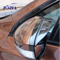 -Car Covers Real 2008 Palavras Logotipo Espelho Retrovisor Chuva Sobrancelha Engrenagem Tampa Caso Adesivo para Peugeot 2008 308 508