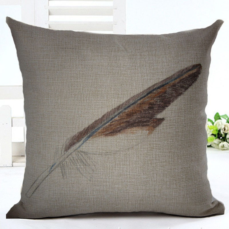 Pillow Case Goose Quill Square Cushion Cover Pillowcase with Zipper Sofa Home Decor F