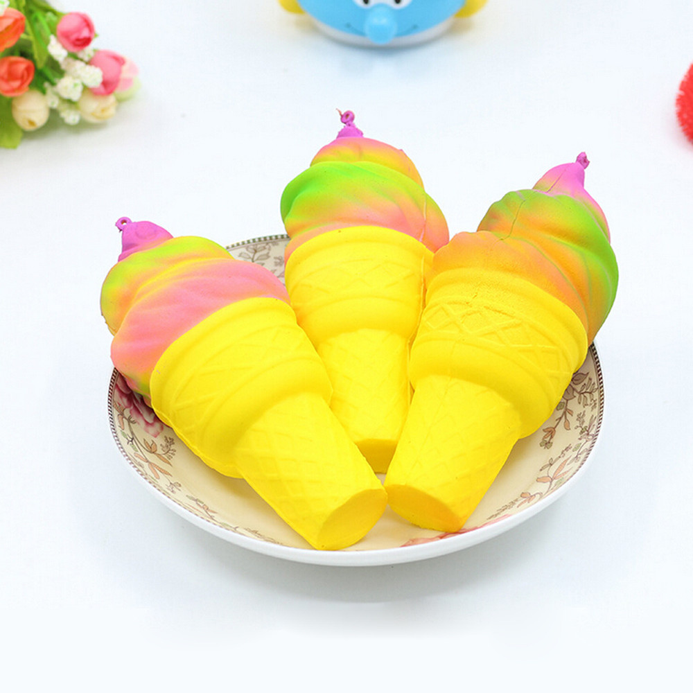2018 Jumbo Squishy Toys For Children Slow Rising Scented Luky Ice cream Squishy Gift Squishies Stress Reliever Kids Fun Toys