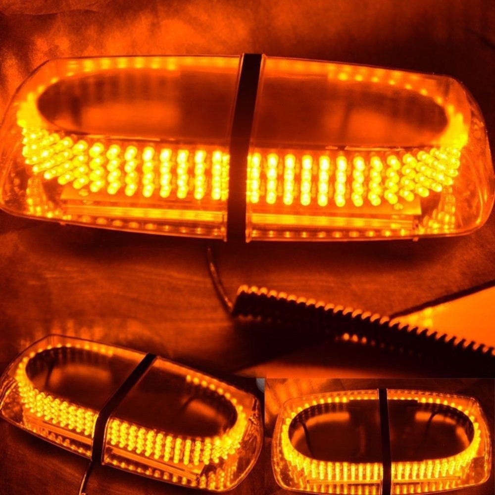01015 free shipping 112A 240 LED Car Roof Flashing Strobe Emergency Light Amber/White New 240LED DC 12V