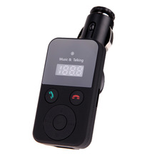 New 320E Hands-free Bluetooth Car Kit with FM Transmitter Music MP3 Player Auto Handsfree Microphone Kit Car-styling Car-charger
