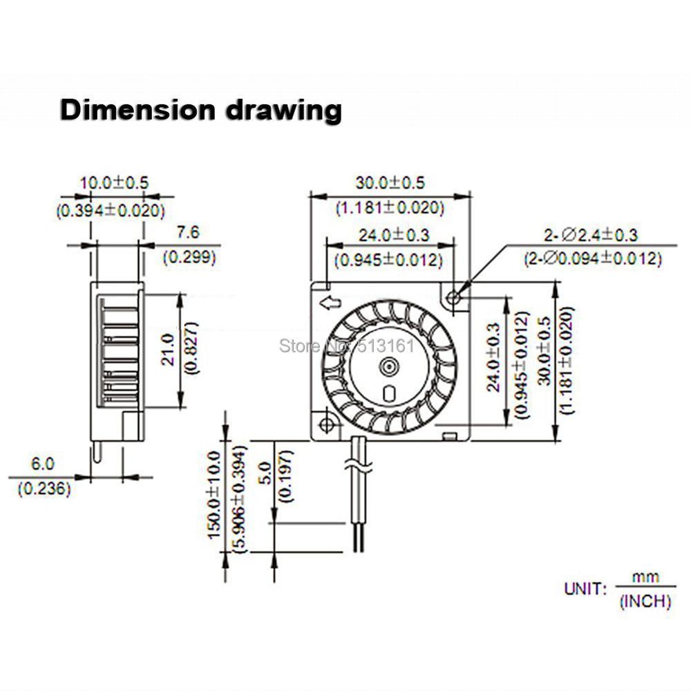 20 шт бесщеточный вентилятор для 3d принтера 30 мм 3 см