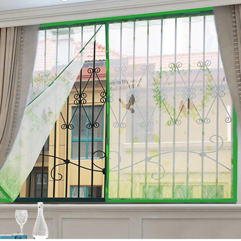 Anti-mosquito Screens Door Curtain Perforated-free DIY Yarn Door Curtain Screen Curtains Protect Families From Mosquito Harassme