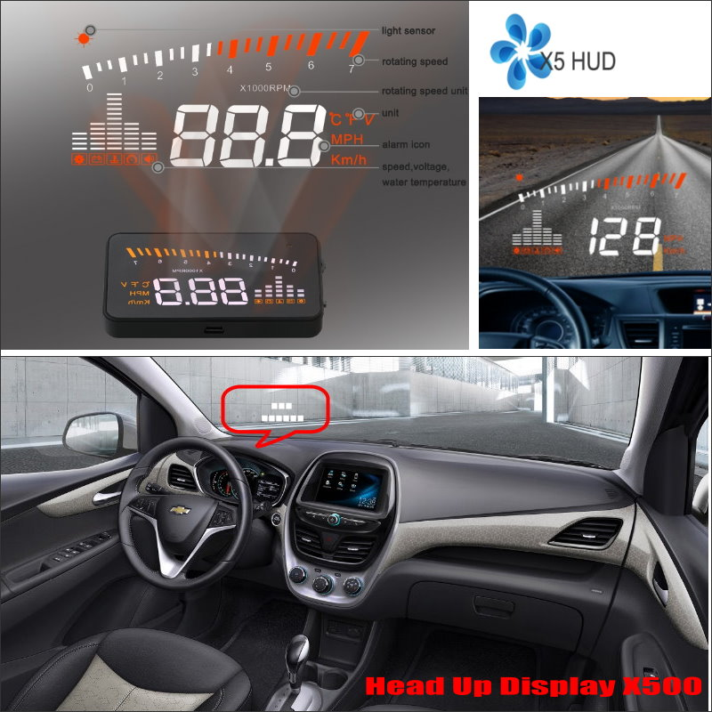 For Chevrolet Tahoe / Spark 2015 2016 Car Head Up Display Saft Driving Screen Projector - Refkecting Windshield unisex skullies knit men s winter balaclava bonnet women thicken winter hats for men beanie warm baggy knitted hat and scarf