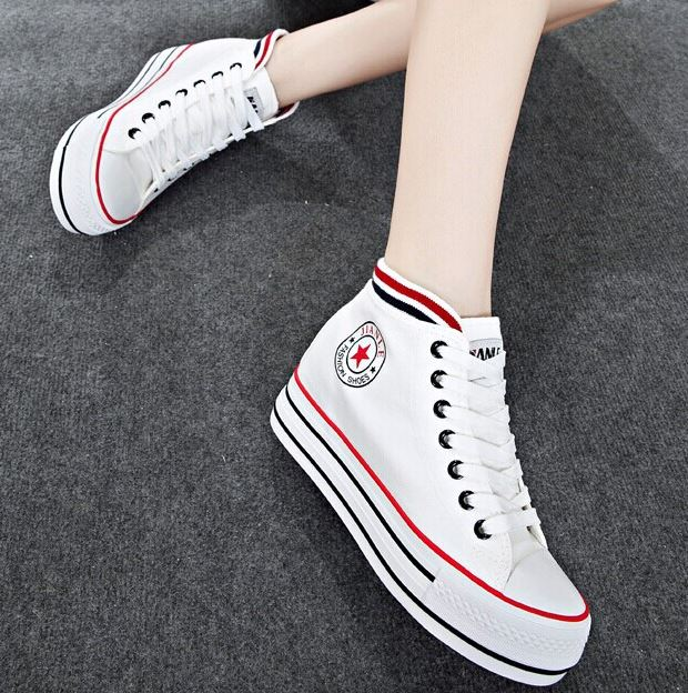 New 2016 Spring Autumn Shoes For font b Women b font Fashion Lace up Canvas font