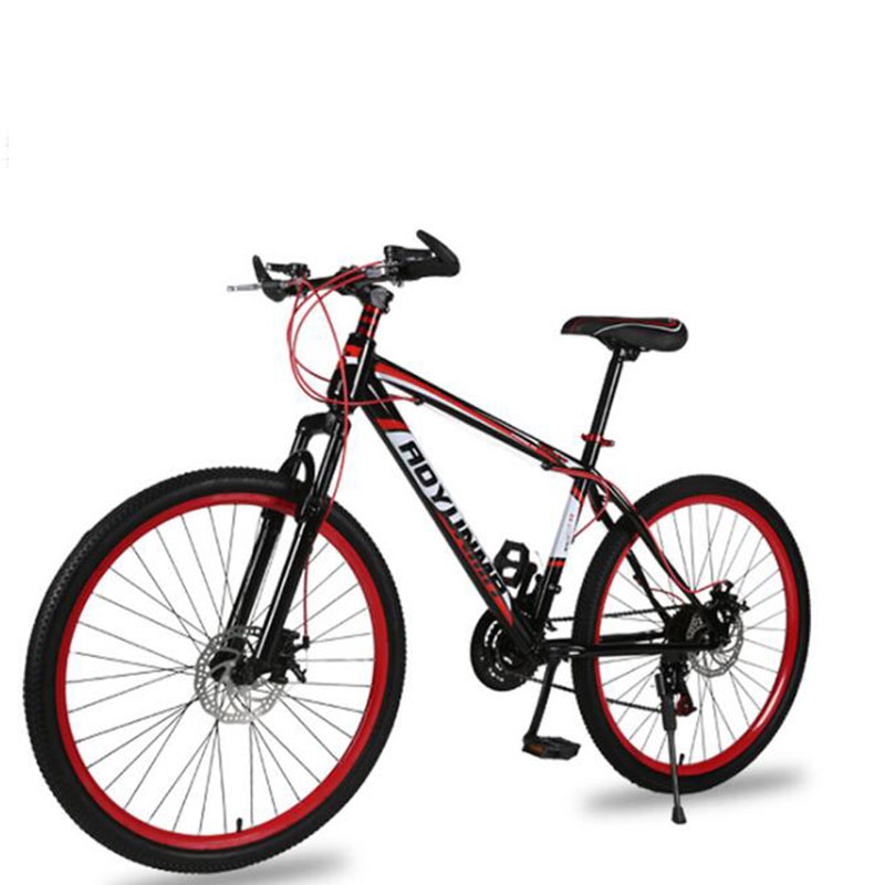 Spor ve Eğlence'ten Bisiklet'de Dağ Bisikleti Bisiklet 26 Inç 21 Hız Şok Çift Disk Frenler Yetişkin Öğrenci Erkek ve Kadın 2019 Yeni Unisex title=