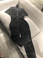 2019 женский модный свободный сетчатый Повседневный джинсовый комбинезон 0624