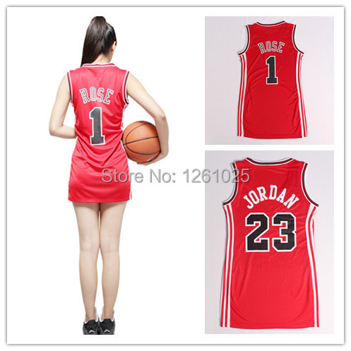 23 Michael Jordan   Derrick Rose women Basketball Jersey of embroidered ladies  clothing free shipping 9ef9309b1