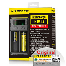Original Nitecore New i2 Intelli Charger Universal Battery Charger Fast for AA AAA Li ion 26650 18650 14500 Batteries Charging