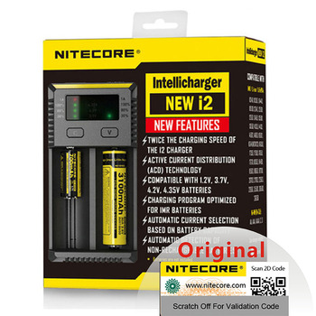 Original Nitecore New i2 Intelli Charger Universal Battery Charger Fast for AA AAA Li-ion 26650 18650 14500 Batteries Charging Battery Chargers