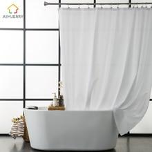 Aimjerry Waterproof Polyester Fabric Bathroom White font b Shower b font font b Curtain b font