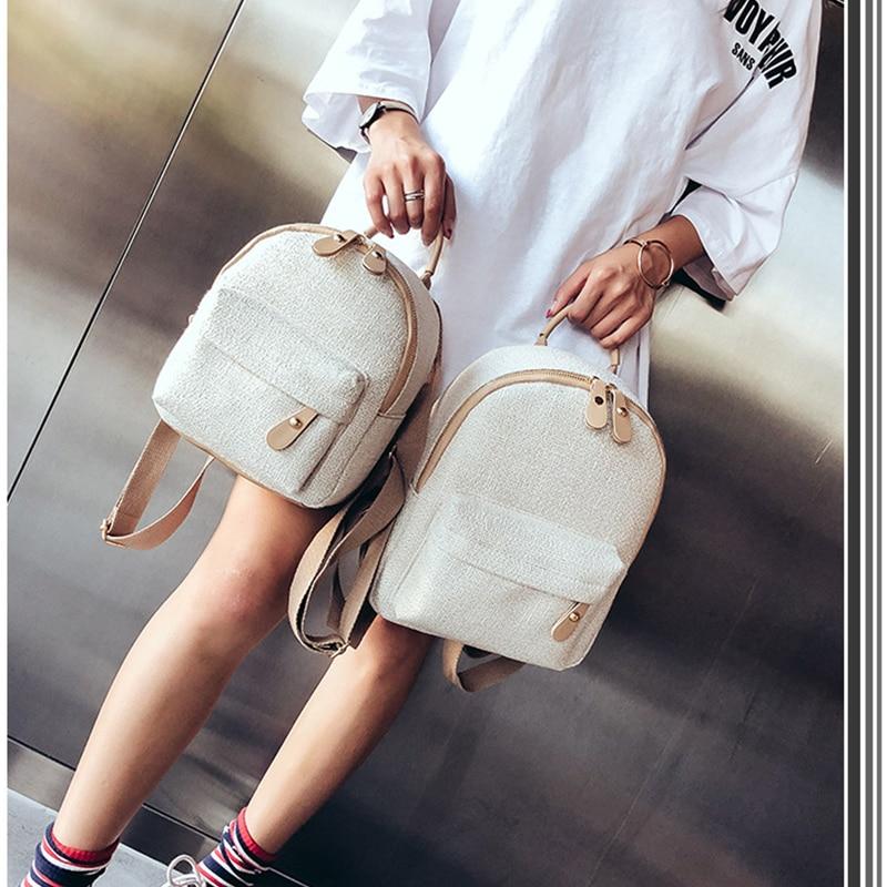Women Mini Backpacks For Teenage Girls Women's Backpack Canvas Fashion Backpack Female Small Shoulder Bag Female Mochila LSH554