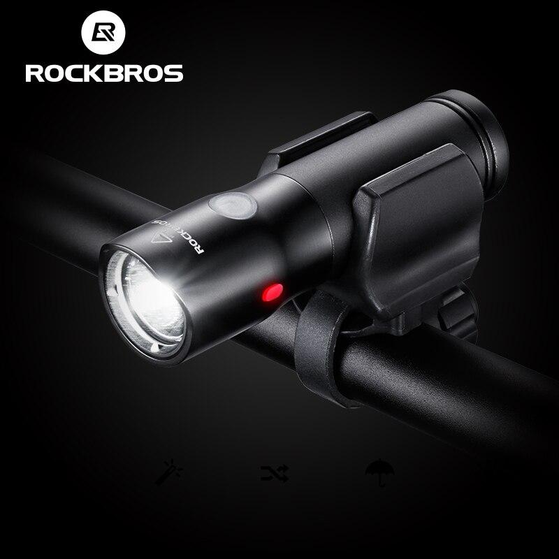 Rockbros bicicleta luz power bank usb recargable impermeable luz de la bici lado
