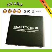 720P 1080P Scart CVBS RGB YC To HDMI HD Video Up Scaler Converter With Power Adapter